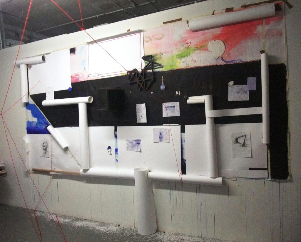My dear universe 300cm x 500 cm Wall installation